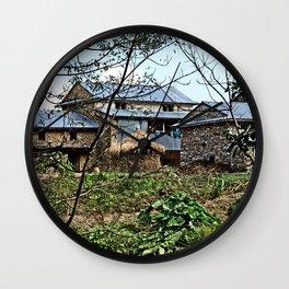 NEPALI FOOTHILLS FARMSTEAD Wall Clock