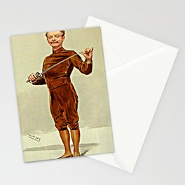 """He insists that his pen is mightier than his sword"" Stationery Cards"