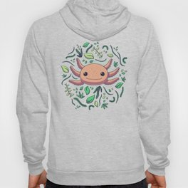 Axolotl with Plants // Kawaii, Wild Animal Hoody