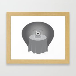 clairvoyant glance Framed Art Print
