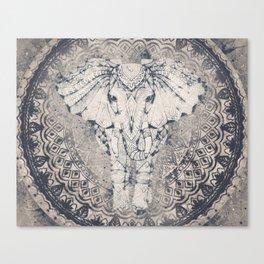 Indian Elephant Mandala Canvas Print