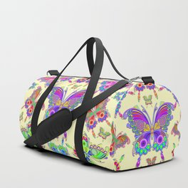 Butterfly Colorful Tattoo Style Pattern Duffle Bag