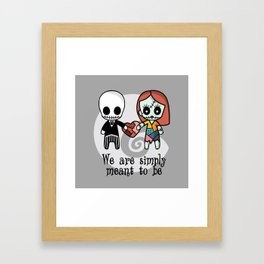 Jack and Sally - We are simply meant to be Framed Art Print