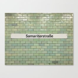 Berlin U-Bahn Memories - Samariterstraße Canvas Print