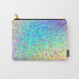 Pastel Rainbow Pointillized Design Carry-All Pouch