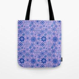 Blue Snowflakes Tote Bag