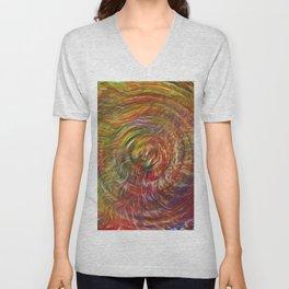 Waves of Trippy Grass Unisex V-Neck