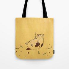 Happy Birthday fat cat '^^) Tote Bag