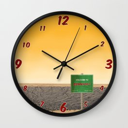 Welcome to Sunnydale Wall Clock