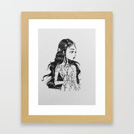 the wildflower queen (Nym) Framed Art Print