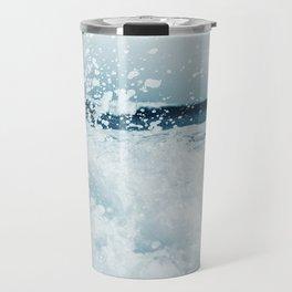 Ocean Wave Art Print By Synplus Travel Mug