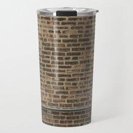 Brick Wall with Conduit and Window Travel Mug