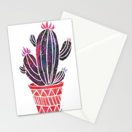 Watercolor Galaxy Cactus Stationery Cards