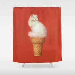 Cat Ice Cream Shower Curtain