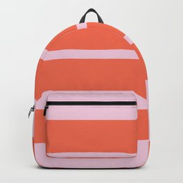coral boxed in Backpack