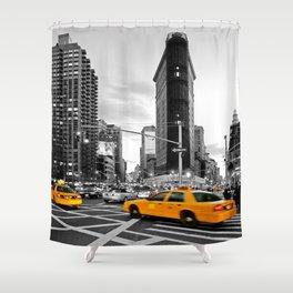NYC - Yellow Cabs - FlatIron Shower Curtain