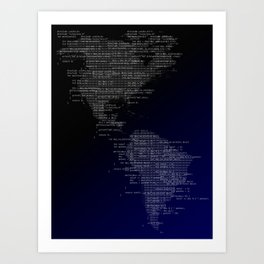 Binary America Art Print