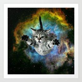 Galaxy Cat Universe Kitten Launch                                                 Art Print