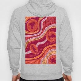 Authentic Aboriginal Art - Animals Hoody
