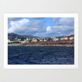 Irish Seaside Village, Co Kerry, Ireland Art Print