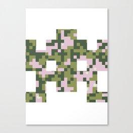 Camo pixel Canvas Print