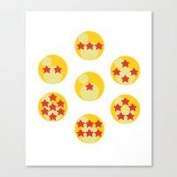 dragonball Canvas Prints featuring Dragonball by matcha-tiger