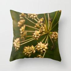 Yellow grass seeds Throw Pillow