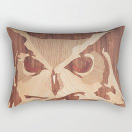 Owl marquetry art picture Rectangular Pillow