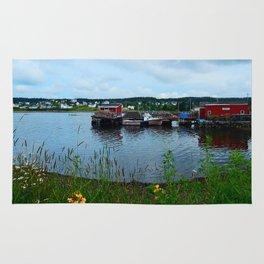 Fisherman's Wharf in Cape Breton Rug