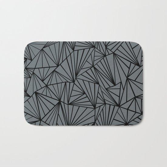 Ab Fan Grey and Black Bath Mat
