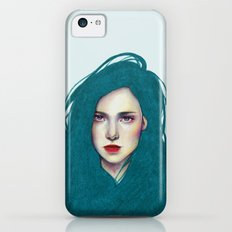 La fille aux cheveux bleus iPhone 5c Slim Case