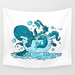 Octopus Bath Wall Tapestry