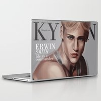 snk Laptop & iPad Skins featuring SnK Magazine: Erwin by emametlo