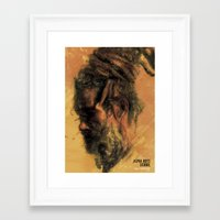 reggae Framed Art Prints featuring Reggae Poster by Dimitris Evagelou