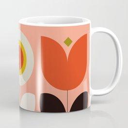 mid century bauhaus floral large 3 Coffee Mug