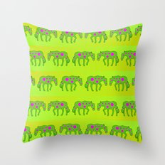 Spotted horses Throw Pillow
