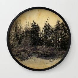 old landscape Wall Clock