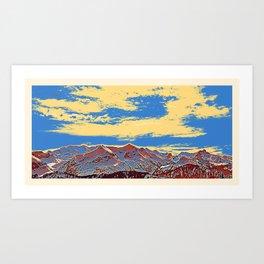 Beatenberg Mountain Bernese Oberland in Switzerland Art Print