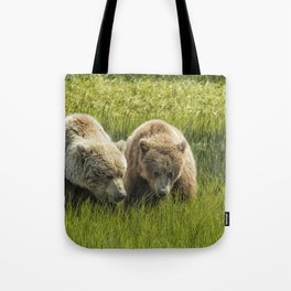 Eating Side by Side Tote Bag