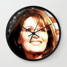 Sarah Palin Patriot Wall Clock
