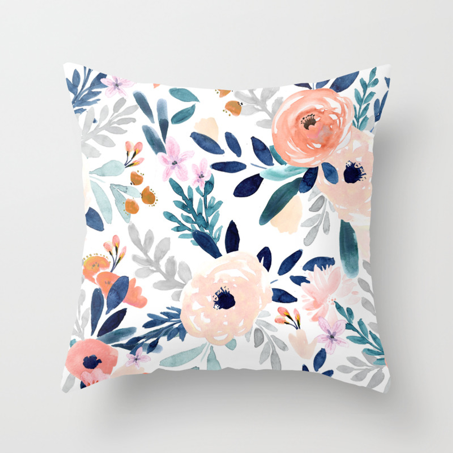 Jolene Floral Throw Pillow By Crystalwalen Society6