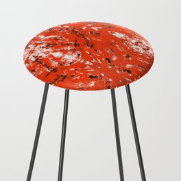 An Orange Nation Counter Stool