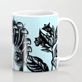 Blue Belladonna | Blue | Belladonna | Portrait | Art | Portrait Coffee Mug