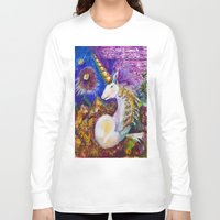 unicorn Long Sleeve T-shirts featuring Unicorn by CrismanArt