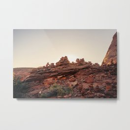 Field of Cairns Metal Print