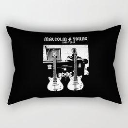 Malcolm Young - AC DC - Guitar - Rock Music - Pop Culture Rectangular Pillow