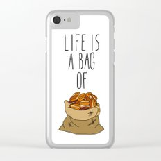 Life Is a Bag of... Clear iPhone Case