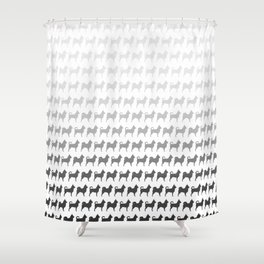 Chihuahua Silhouettes Pattern Shower Curtain