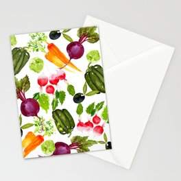 Mixed Vegetables Stationery Cards