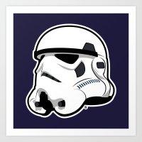 Trooper Bucket - Star Wars Art Print